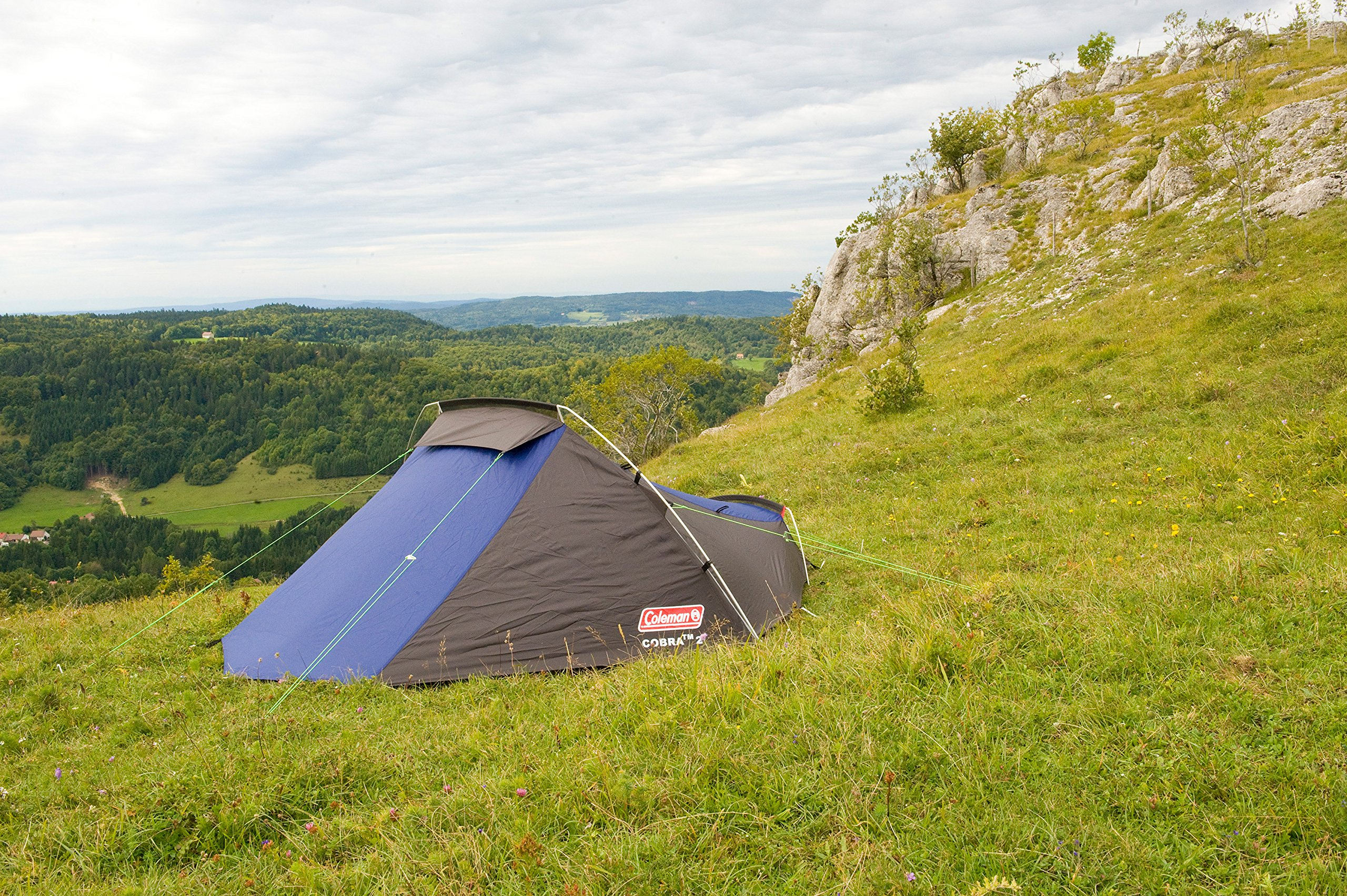 Coleman Cobra 2 Tent for Trekking Tours, Camping or Festivals, Small Pack Size, Fits in a Backpack, Waterproof HH 3.000… 9