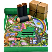 Jaques of London Puzzle Roll - Puzzle Mat for Storing your Jigsaw In-between Use - Easy-Catch Fastening Baize Material