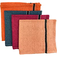 SHOP BY ROOM Extra Large Wet and Dry Floor Cleaning Cloth ,Pottu, Pocha -20 inch x 22 inch - Pack of 4 (Multicolor)