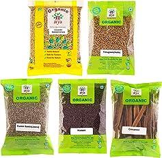 Arya Farm Garam Masala Whole Spice Cinnamon 50g , Coriander, Jeera , Fenugreek , Mustard Combo (100g)
