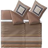 CelinaTex Touchme Tara Biber Bettwäsche 135 x 200 cm 4-teilig braun beige weiß Flauschiger Bettbezug 6000426