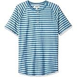 Goodthreads Men's Short-sleeve Indigo Henley Shirt