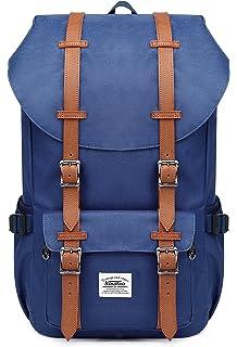 47db2d63e6 KAUKKO Rucksack Damen Herren Schulrucksack 17 Zoll Laptop Backpack für 15
