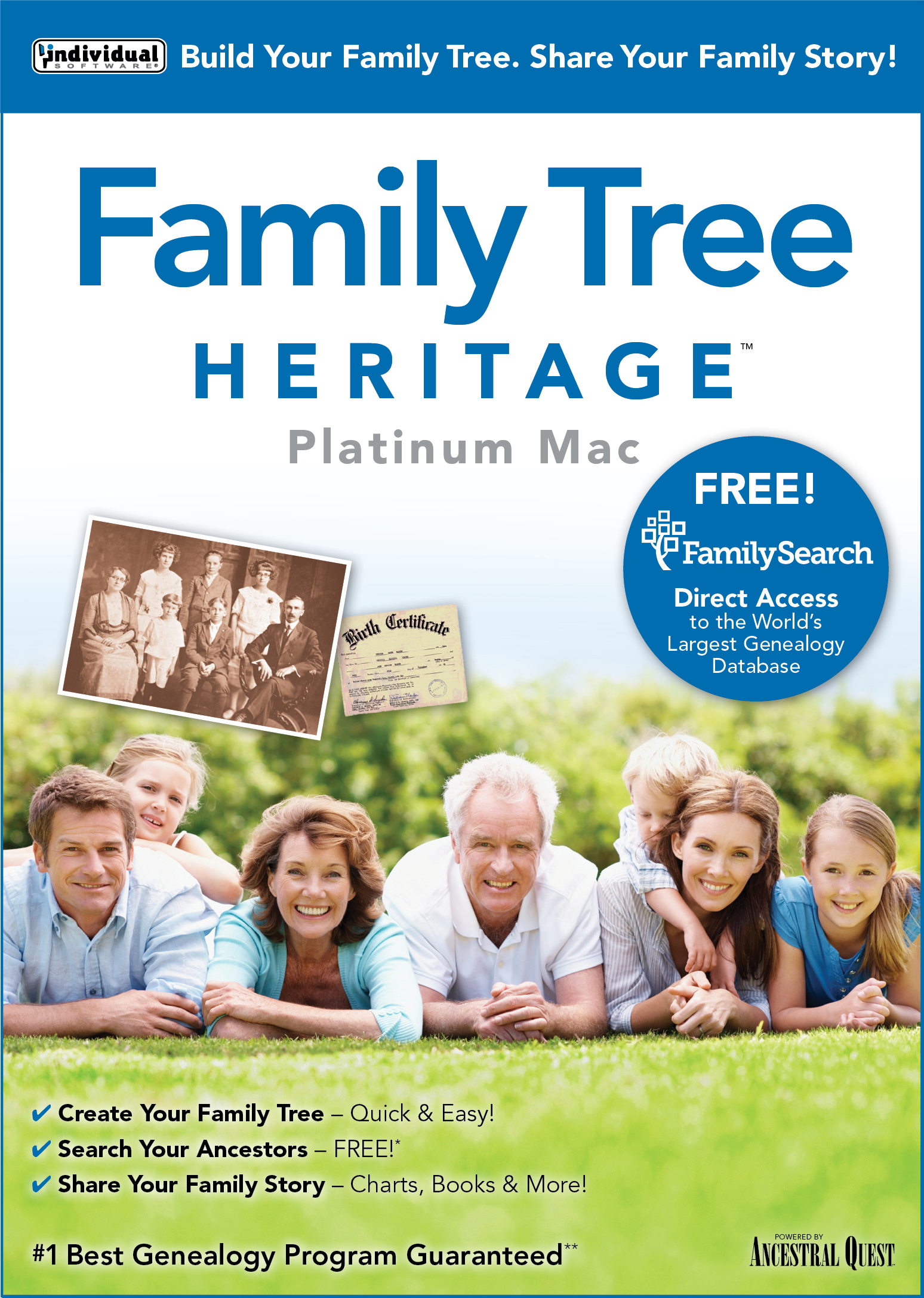 Price comparison product image Family Tree Heritage Platinum 9 - Mac [Download]