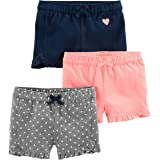 Simple Joys by Carter's 3-Pack Knit Shorts Bimba 0-24, Pacco da 3