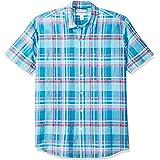 Amazon Essentials Camisa de Algodón de Lino de Manga Corta de Ajuste Regular Button-Down-Shirts Hombre