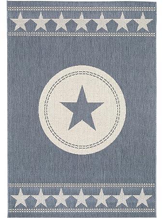 Pflegeleichter teppich  benuta In- & Outdoor Teppich Essenza Star Blau 160x230 cm ...