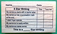 5-Star Writing Grid, Teacher's Rubber Stamp