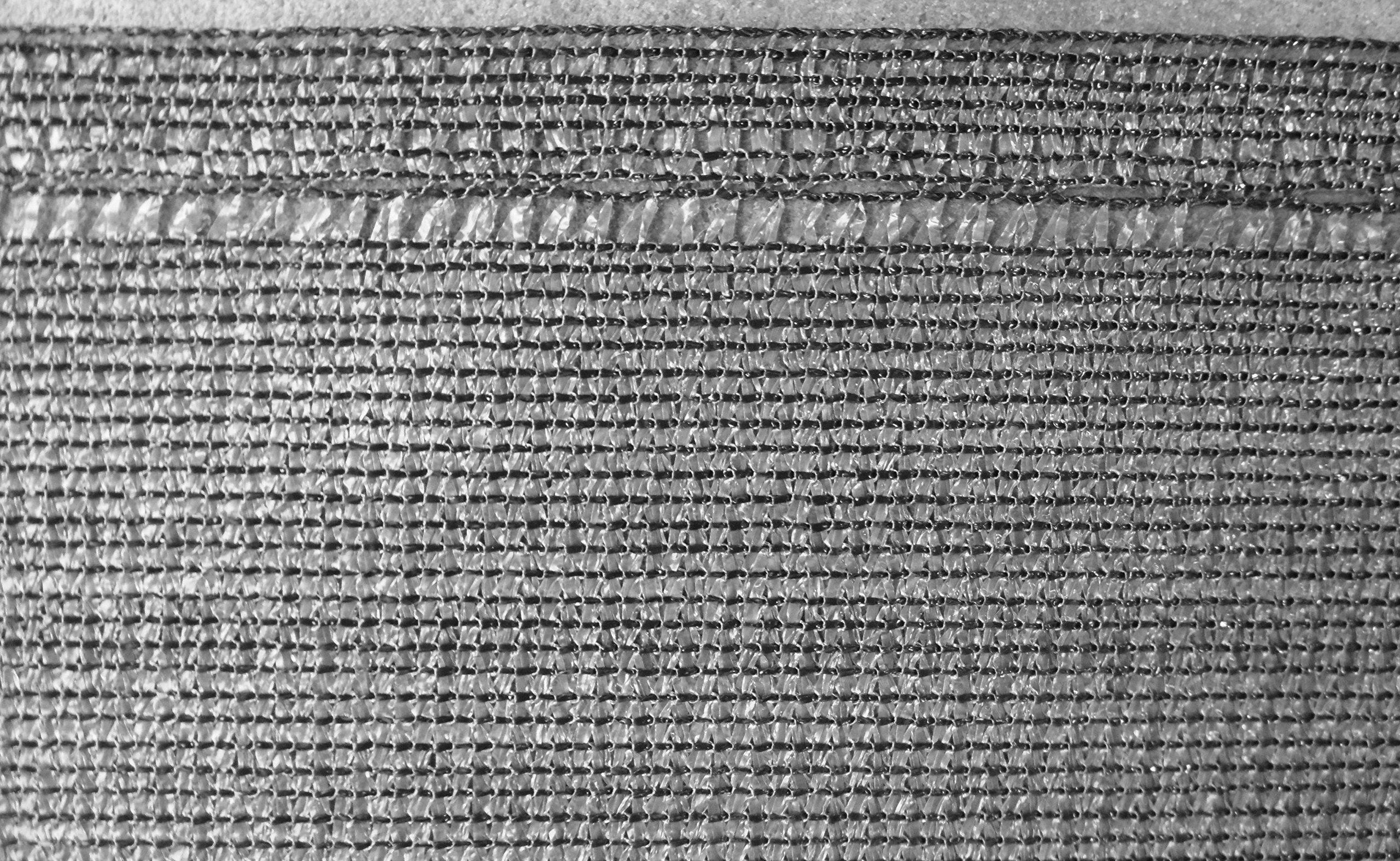 EXCOLO Gerüstnetz Bauzaunnetz Höhe 1,8 m als Windnetz Staubschutz Sichtschutz Plane für Gerüst und Bauzaun in Grau (10…