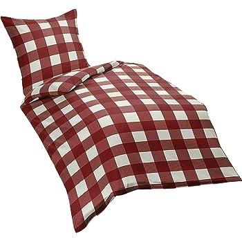 bettw sche landhaus karo rot kariert bauern 135x200 k che haushalt. Black Bedroom Furniture Sets. Home Design Ideas