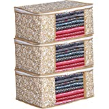 Porchex Presents Non Woven Saree Cover Storage Bags for Clothes with primum Quality Combo Offer Saree Organizer for Wardrobe/