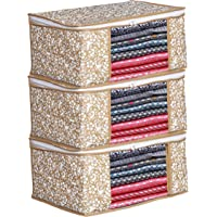 Porchex Presents Non Woven Saree Cover Storage Bags for Clothes with primum Quality Combo Offer Saree Organizer for…