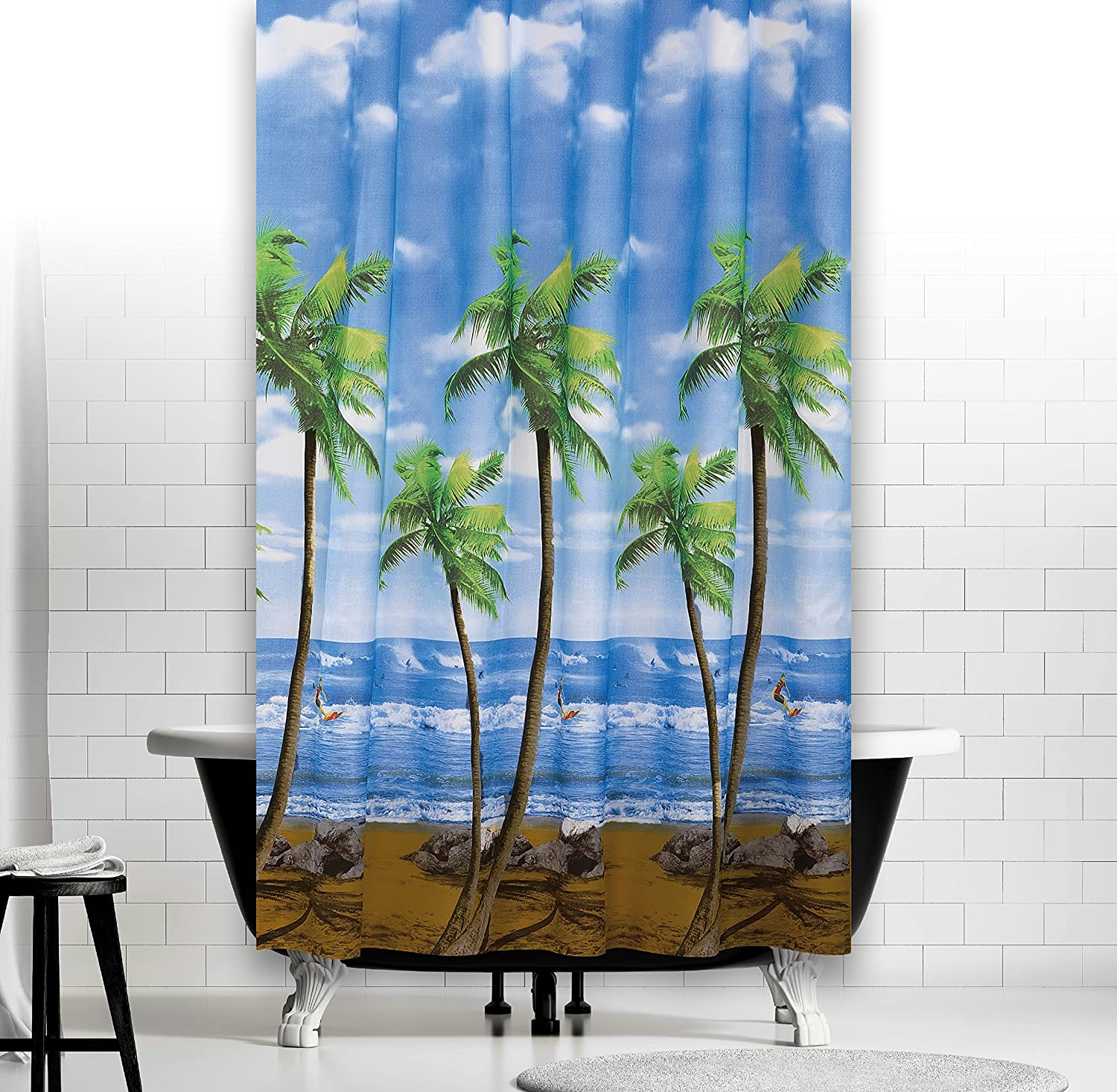 Bathroom Shower Curtain Extra Long and Wide - 240CM Wide by 200CM ...