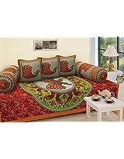 Rajasthanikart 100% Cotton Jaipuri Traditional Bedsheet - Peacock Design