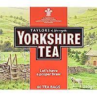 Taylors of Harrogate Yorkshire, Tè Nero 80 bustine di te - 1 unitá