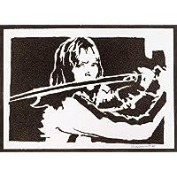Poster Kill Bill Beatrix Kiddo Handmade Graffiti Street Art - Artwork