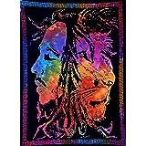 "ANJANIYA Bob Marley Leeuw Gezicht Mooie Boheemse Kamer Dorm Decor Hippie Kleine Boho Rasta Tapestry Poster 30""x40"" Psychedeli"