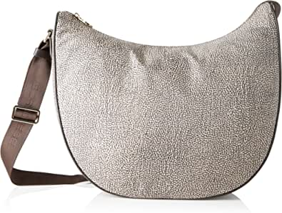 Borbonese Luna Bag Medium, Borsa a spalla Donna, 35x38x15 cm (W x H x L)