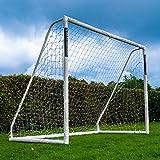Fotboll Flick Ultimate fotbollsmål av uPVC, UV-behandlad, 70 mm tjocka stolpar, integrerat låssystem och förstärkta hörn (sto