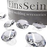 EinsSein 100x Funkelnde Diamantkristalle 12mm klar Dekoration Dekosteine Diamanten Funkelnde Diamantkristalle Streudeko Konfetti Tischdeko Hochzeit