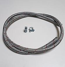 VE-Professional Benzinschlauch Ø 8mm Kraftstoffleitung Stahlflex mit Schlauchschellen