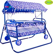 BabyGo Baby Cradle Cot and Stroller Blue