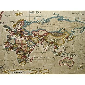 Prestigious atlas world map antique designer curtain upholstery prestigious atlas world map antique designer curtain upholstery fabric by gumiabroncs Images