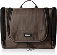 Amazon Brand - Solimo Brown Toiletry Bag