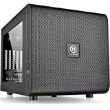 Thermaltake Core V21 Cubo Negro carcasa de ordenador - Caja de ordenador (Cubo, SPCC, Micro-ATX,Mini-ITX, Negro, 18,5 cm, 35