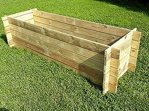 naturholz-shop Stabiler Holzkomposter Komposter Kompostbehälter Hochbeet 195 x 65 x 51 cm 19 mm