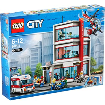 lego city l 39 h pital lego city 60204 jeu de construction jeux et jouets. Black Bedroom Furniture Sets. Home Design Ideas