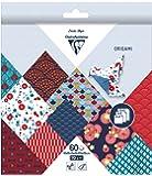 Clairefontaine 95347C Pochette 60 Feuilles Origami comprenant 3 format 10 x 10/15 x 15/20 x 20 cm motif Hanayo