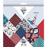 Clairefontaine 95347C - Une pochette origami 60 feuilles 70g (3 formats de papier : 10x10 cm, 15x15 cm, 20x20 cm , motifs ass