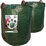 7DOO Set 2x 272 Liter Tuinafvalzak 2e Generatie, Duurzame Verzamelzak voor Gras en Blad, Tuinafval Container van polypropylee
