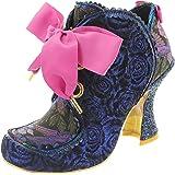 Irregular Choice Womens Baroness Velvet Ankle Boot Evening Block Heel