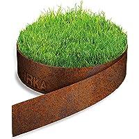 IRKA Bordure de Gazon en Acier Corten 15cm x 10m x 1mm Bord de pelouse Patine rouille