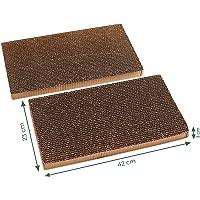 Pfotenolymp® Kratzbrett mit Bambus Rahmen/Kratzmatte für Katzen – Kratzpappe/Katzenkratzbrett – Mit Wellpappe…