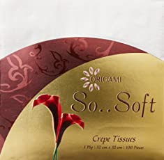 Origami So Soft 1 Ply Crepe tissues - 100 pieces