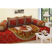 Rajasthanikart Traditional 6 Piece Diwan Set - Cotton