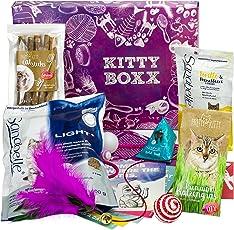 BOXX Kitty (13 Teile) Geschenk für Katzenliebhaber I Geschenkbox mit Katzenspielzeug, Katzenfutter, Pflegeprodukten UVM. als Geschenk für Katzenbesitzer & Katzen