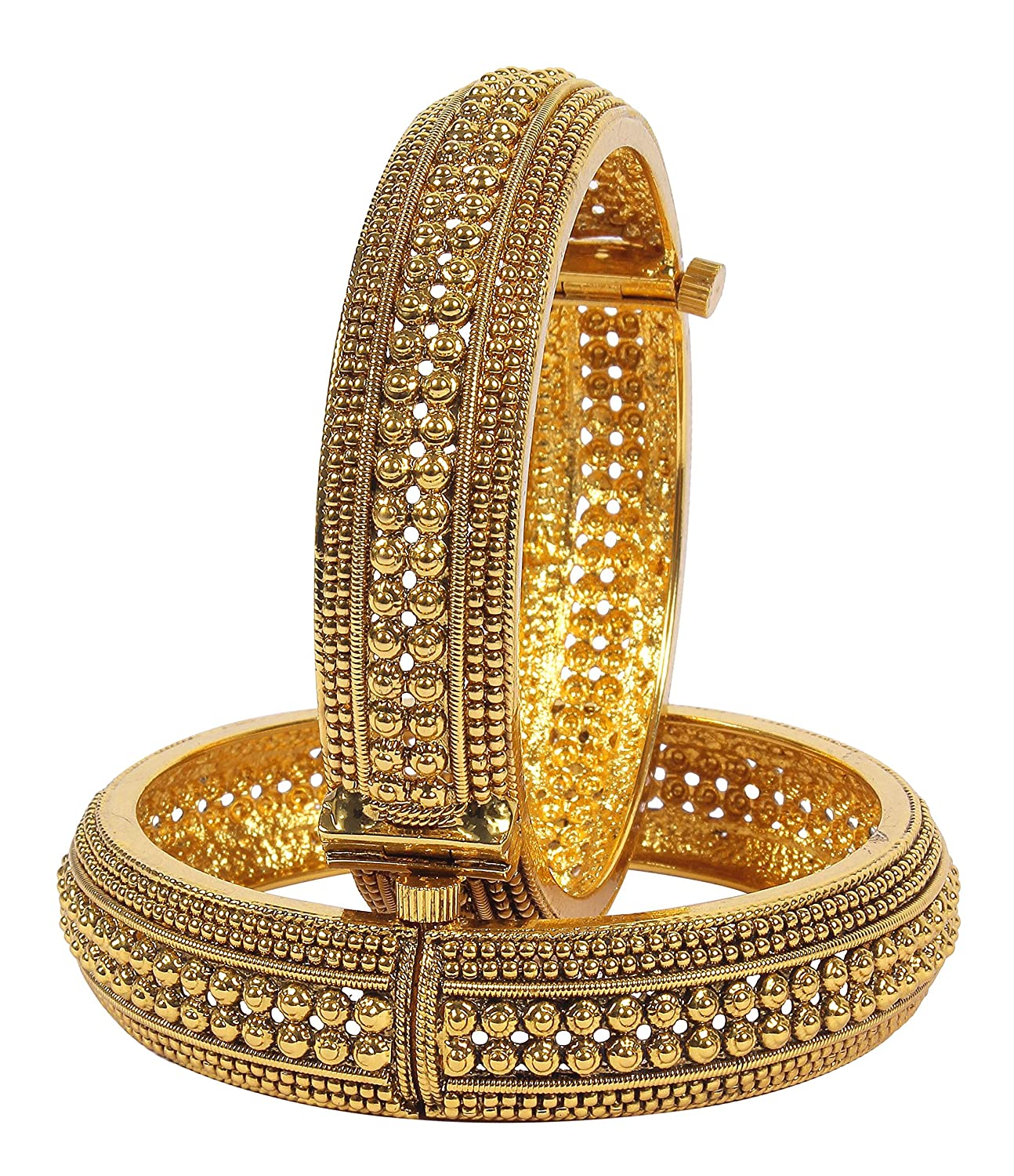 Buy Muchmore Gold Plated Bangle Set For Women Online at Low Prices ...