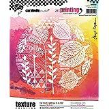 Carabelle Studio APRO60002 Tampon en Caoutchouc avec Texture en Forme rectangulaire Art Printing, Feuilles et Fleurs abstrait