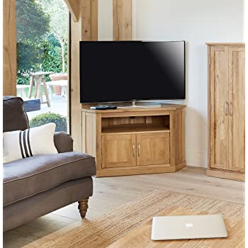 baumhaus mobel oak corner television cabinet