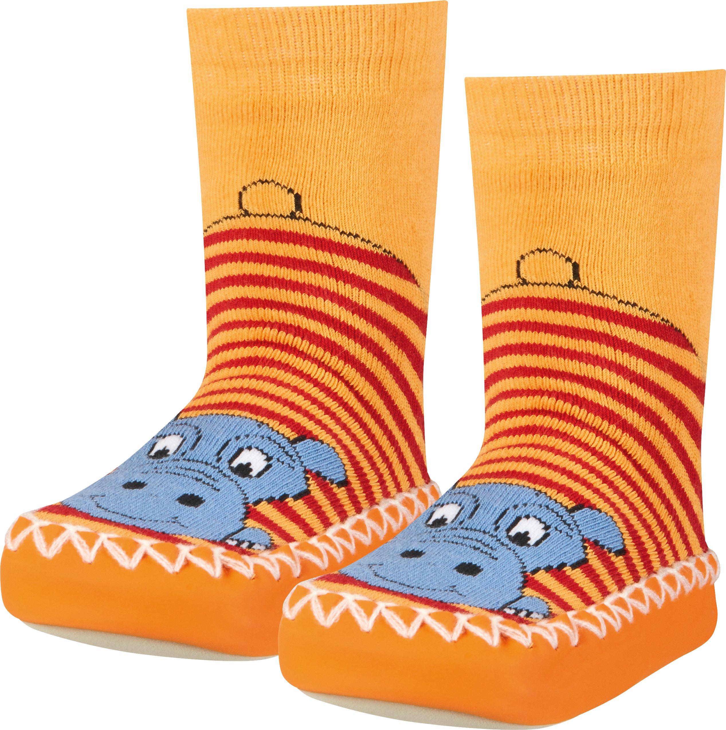 Playshoes Zapatillas con Suela Antideslizante Hippopotamus, Pantuflas Unisex Niños 2