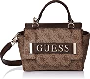 GUESS Womens Mini Satchel Bag, Brown - SG744276