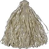 Shree Shyam Zari Centre Plastic Wrinkle Gotta Base Gotta Trim (Length :100 mtr Width : 4 mm, Colour: Silver, SSZC035)