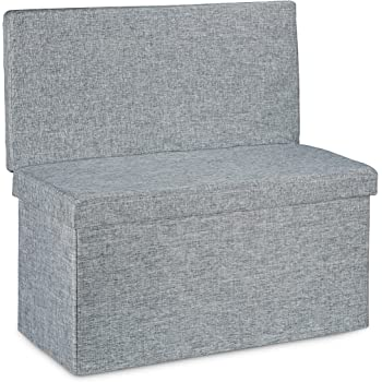 Relaxdays Folding Xl Storage Ottoman With Seat Back 73 X