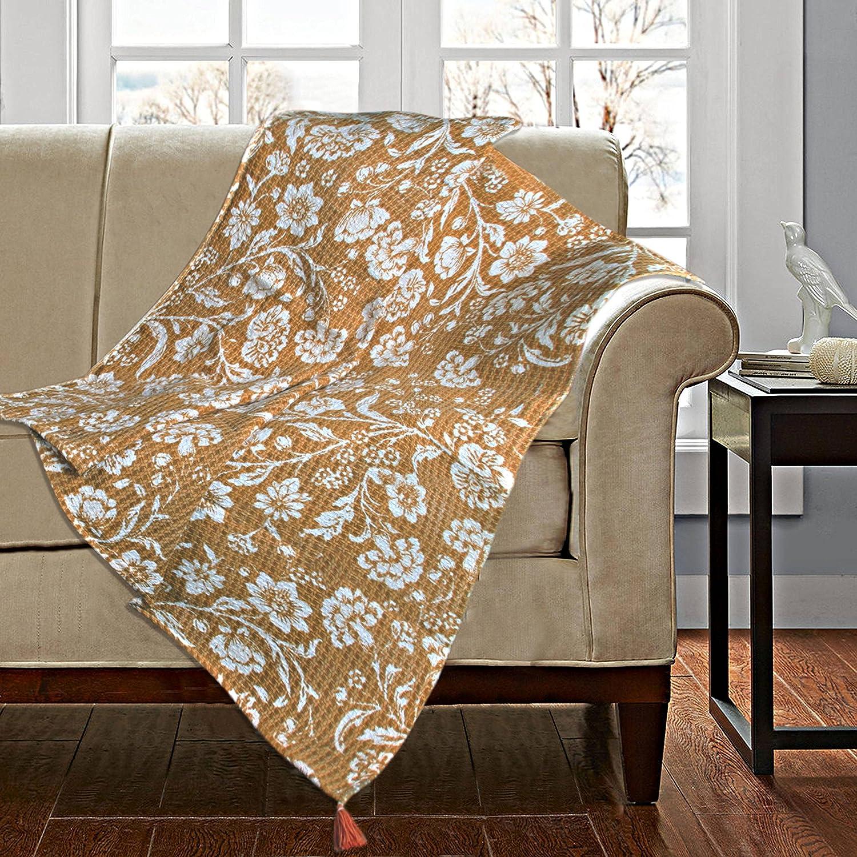 Saral Home 100% Cotton Printed Throw Sofa Cover 120x150 cm