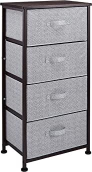 AmazonBasics Fabric 4-Drawer Storage Organizer Unit for Closet, Bronze