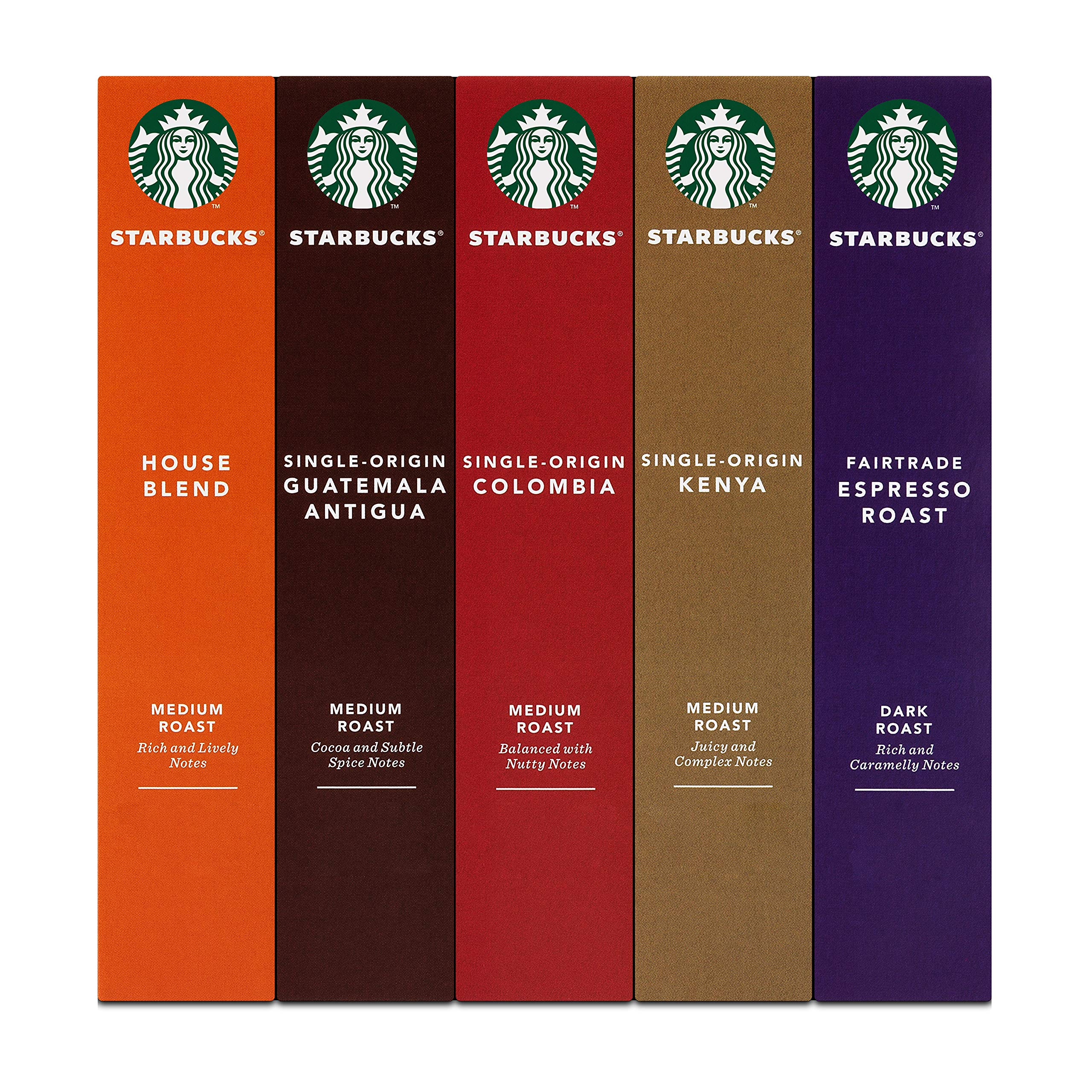 Starbucks Mixed Variety Pack Espresso Capsules Nespresso Compatible Pack Of 5 Total 50 Capsules Klevercup